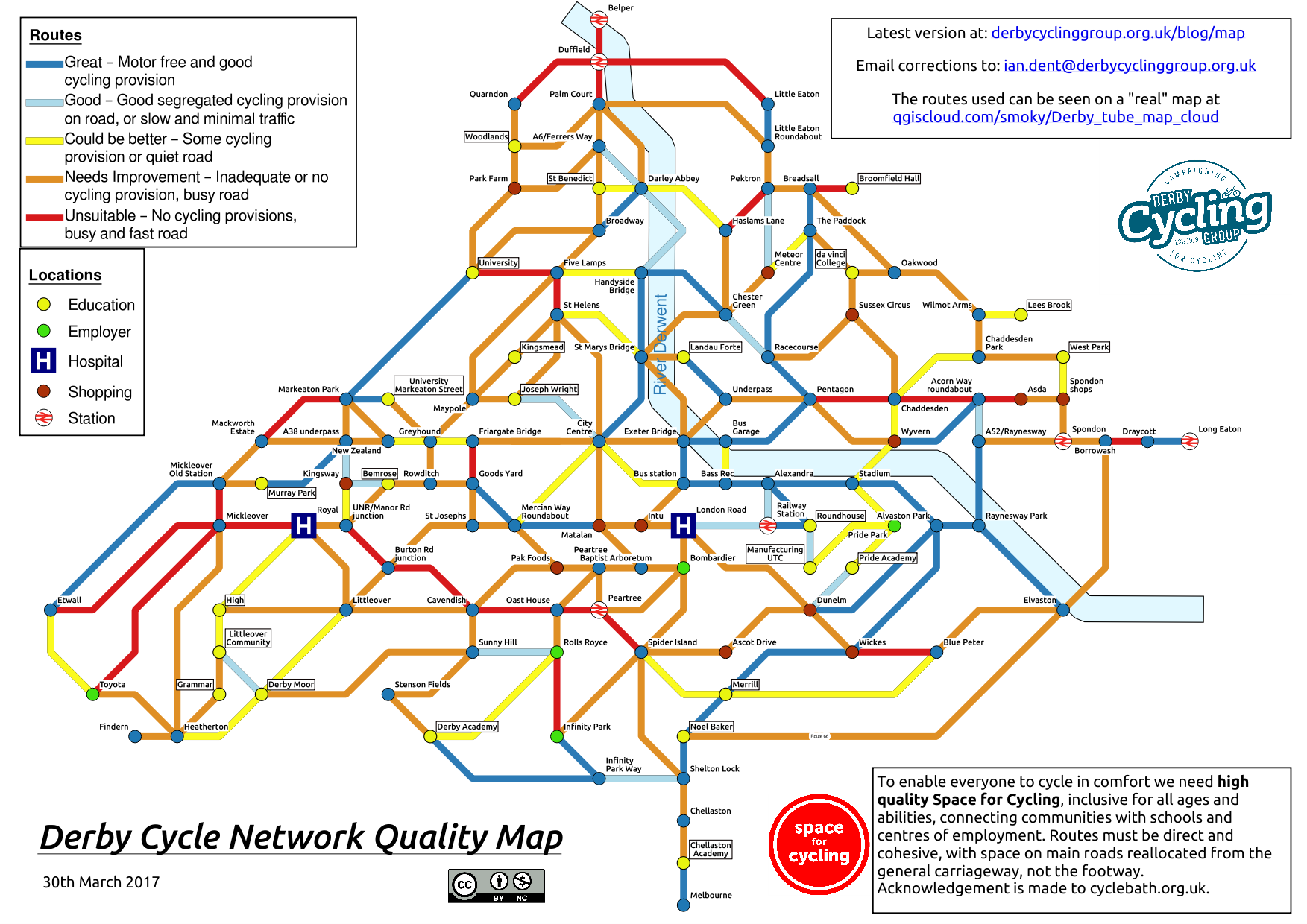 Map Of Uk Derby.Tube Map Derby Cycling Group